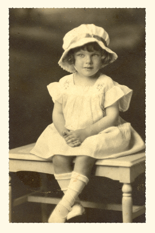 Catherine Eugenia Whitted, daughter of James Albert Whitted and Frances Brent, age 2